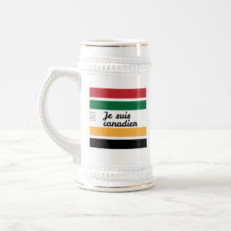 Traditional Canadian Blanket (French) Beer Stein