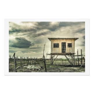 Traditional Cane House, Ecuador Photo Print