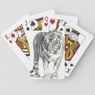 Traditional card deck tiger