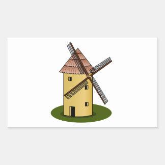 Traditional Cartoon European Windmill