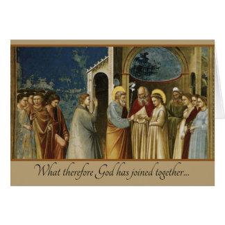 Traditional Catholic Christian Wedding Card
