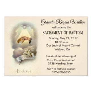 Traditional Catholic Infant Baptism Invitations