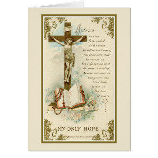 Traditional Catholic Sympathy Mass Offering Cross Card