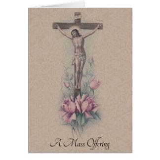 Traditional Catholic Sympathy Mass Offering Jesus Card
