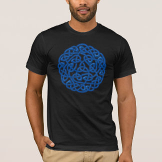 Traditional Celtic Knot (Blue glow) T-Shirt