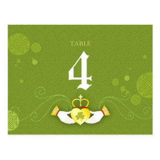 Traditional Celtic Theme Wedding Table Number Card Postcard
