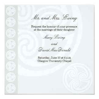 Traditional Celtic Wedding Invitation