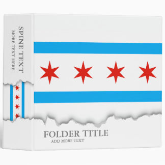 Traditional Chicago flag 3 Ring Binders