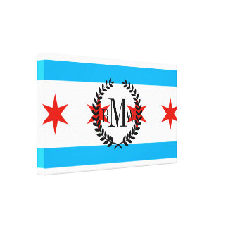 Traditional Chicago flag Canvas Print