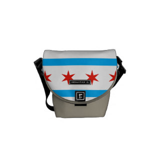 Traditional Chicago flag Messenger Bags