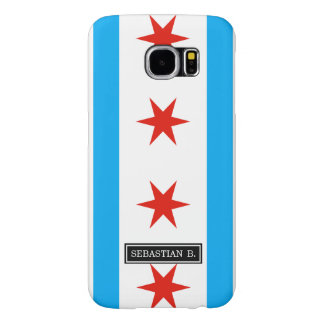 Traditional Chicago flag Samsung Galaxy S6 Cases