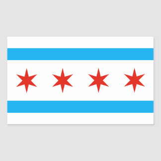 Traditional Chicago flag Sticker