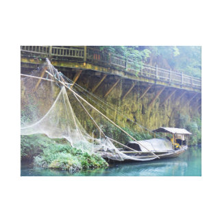 Traditional chinese boat canvas print