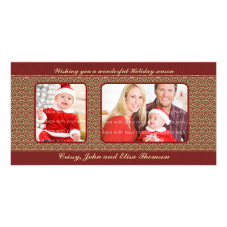 Traditional Christmas Design Personalized Photo Card