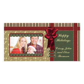 Traditional Christmas Design Photo Greeting Card