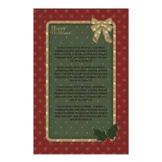 Traditional Christmas Design Stationery