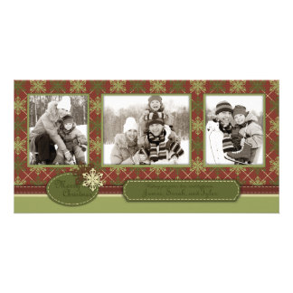 Traditional Christmas Photo Card Trio
