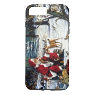 Traditional Christmas Santa in the Park iPhone 7 Plus Case