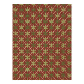 Traditional Christmas Scrapbook Paper Customized Letterhead