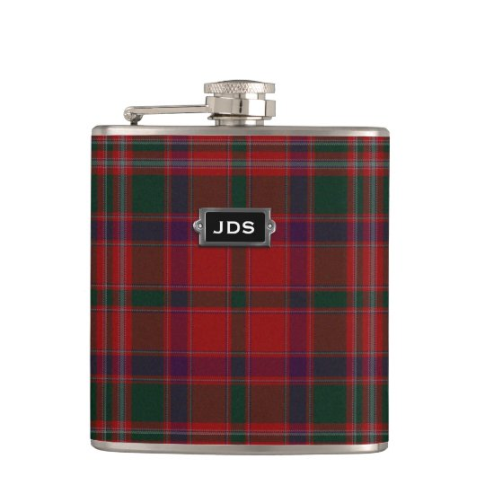 Traditional Clan Stewart Tartan Plaid Flask