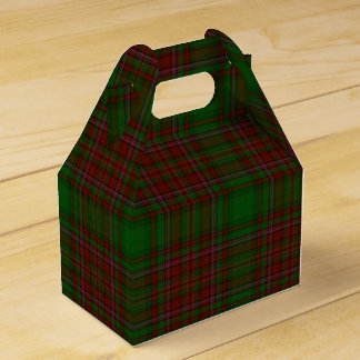Traditional Classic Red & Green Holiday Plaid Favor Box