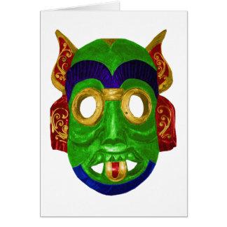 Traditional Colourful Thai Mask Card