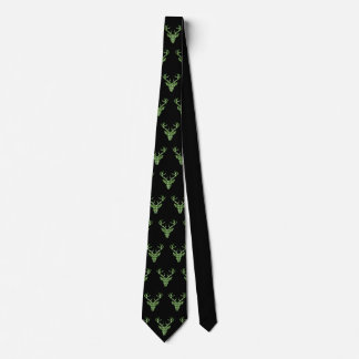 Traditional costume tie country house style deer
