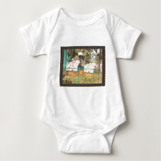 Traditional Cow Statue Art from Indian Suraj Kund Baby Bodysuit