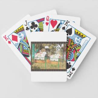 Traditional Cow Statue Art from Indian Suraj Kund Poker Deck