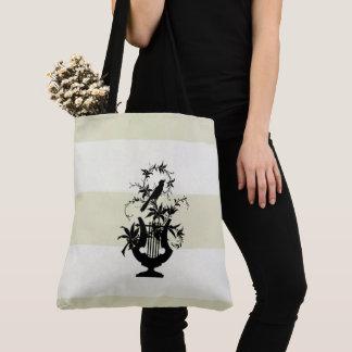 Traditional-Cream-White-Estate-Stripes-M-L Tote Bag
