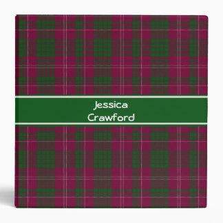 Traditional Custom Crawford Tartan Plaid Binder