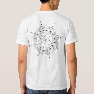 Traditional Dotwork Mandala Back Print T Shirt
