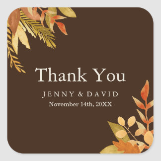 Traditional Fall Thank You Stickers