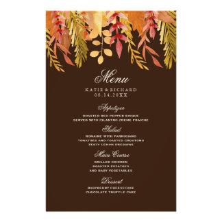 Traditional Fall Wedding Menu Full Color Flyer