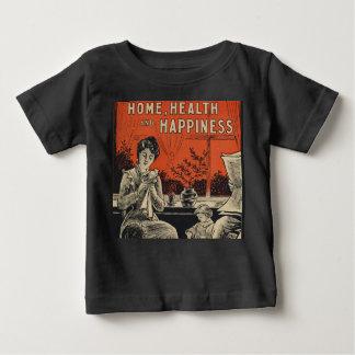 Traditional Family Life Vintage Retro Orange Black Baby T-Shirt