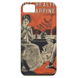 Traditional Family Life Vintage Retro Orange Black iPhone 5 Case