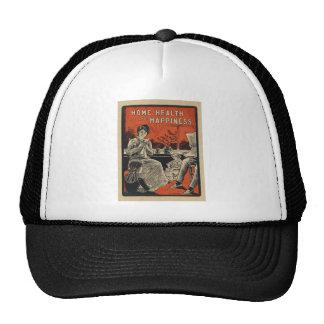 Traditional Family Life Vintage Retro Orange Black Trucker Hat