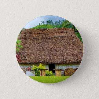 Traditional Fijian Bure, Navala Village, Fiji 2 Inch Round Button