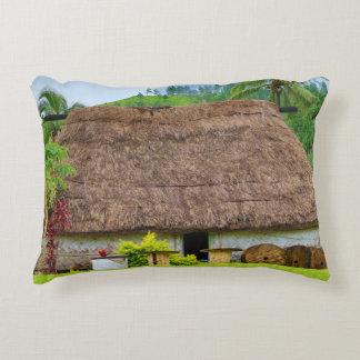 Traditional Fijian Bure, Navala Village, Fiji Decorative Pillow