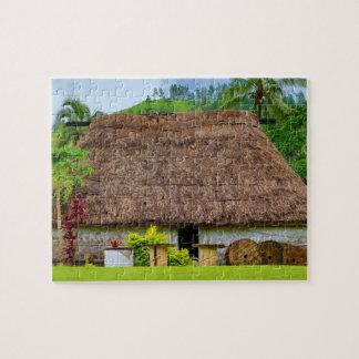 Traditional Fijian Bure, Navala Village, Fiji Jigsaw Puzzle