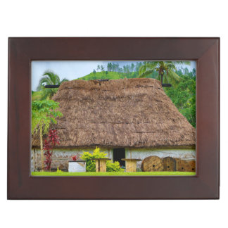Traditional Fijian Bure, Navala Village, Fiji Keepsake Box