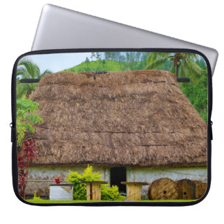 Traditional Fijian Bure, Navala Village, Fiji Laptop Sleeve