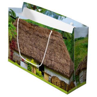 Traditional Fijian Bure, Navala Village, Fiji Large Gift Bag
