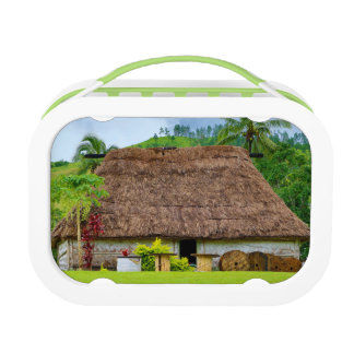 Traditional Fijian Bure, Navala Village, Fiji Lunch Box