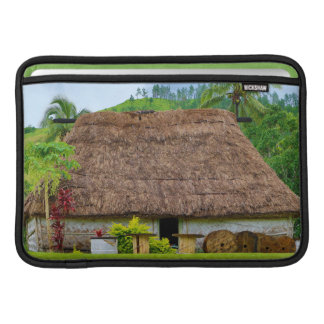 Traditional Fijian Bure, Navala Village, Fiji MacBook Sleeves
