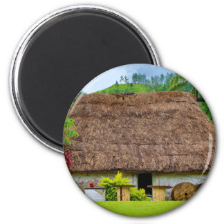 Traditional Fijian Bure, Navala Village, Fiji Magnet