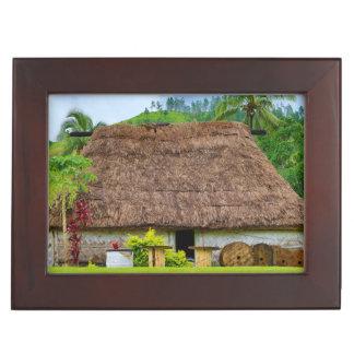 Traditional Fijian Bure, Navala Village, Fiji Memory Boxes