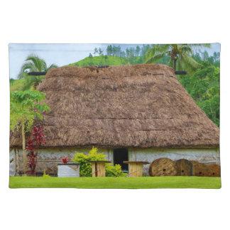 Traditional Fijian Bure, Navala Village, Fiji Placemat