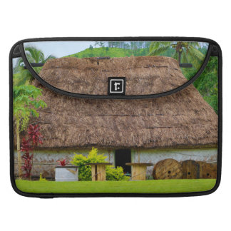 Traditional Fijian Bure, Navala Village, Fiji Sleeve For MacBooks