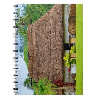 Traditional Fijian Bure, Navala Village, Fiji Spiral Notebook
